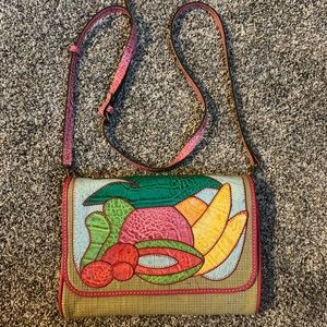 Patricia Nash Luisa leather bag with fruit design